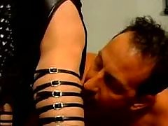 Hot Dominatrix Spanks Slave
