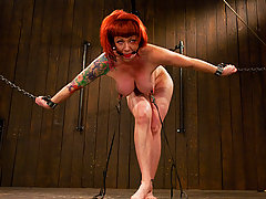 Redhead Chained Slave Whipped
