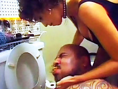 Amateur Brutal Femdom Torture In The.. toilet domination brutal