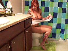 Redhead hot emo teen in the toilet hardcore