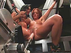 Horny Lesbians Fucked By