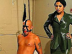 Asian Military Looking Dominatrix domination asian