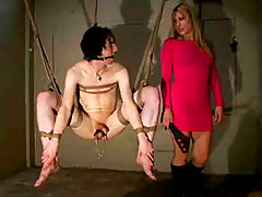 Tortured Hogtied Boy In This Brutal .. domination