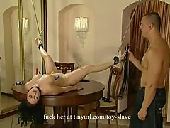 Asian Slave Whipped By
