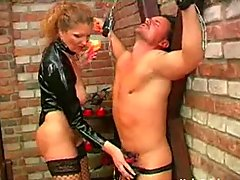 Bbw Dominatrix Uses Her Slave slave domination