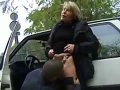 French Mature Threesome stocking