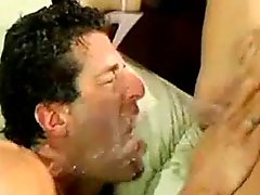 Guy Takes Two Squirt