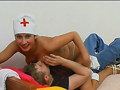 Crazy And Sexy Nurse Seducing Her Pa.. sexy nurse licking