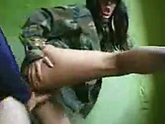 Brunette Soldier Fucked old