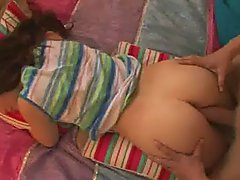 Sleeping Teen Bent Over