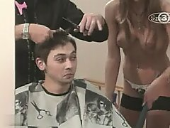 Candid Nudes - Barber Shop Cleaner tease
