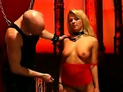 Hot Blonde Submissive Babe Whipped B.. domination blonde bdsm
