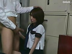 Stationmaster Schoolgirls Caught Far..