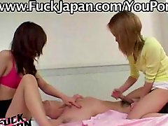 Two Japanese Girls One Guy