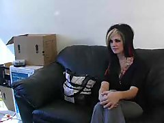 Goth Girl Interviewee Ass