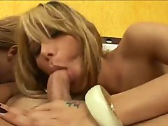 Tranny Threesome And Cum Swap