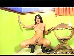 Tranny Kris Alves Masturbating For Camera