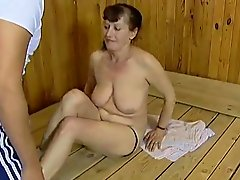 mom loves sauna sex