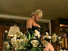 Older transsexual gets her rocks off by her pet man