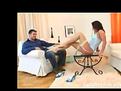 An awesome footjob session