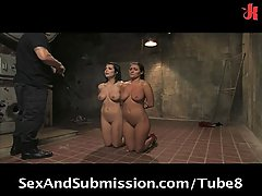Hot BDSM threesome action