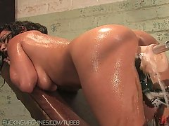 Extreme masturbation with fucking
