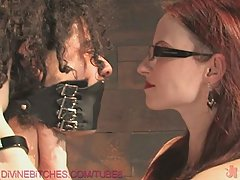 Dominatrix tests male submissives