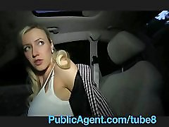 PublicAgent Blonde ExGirlfriend Rides my Cock in my Car