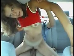 My girlfriend banged in the car