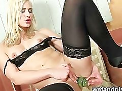 Black stocking and pee squirting