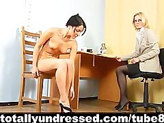 Tough nude job interview