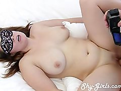 Double creampie for shy amateur