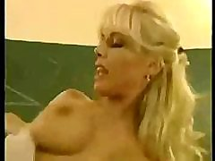 blond sexy teacher