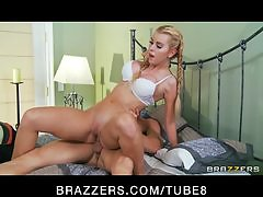 Shy blonde college student turns into a slut for her new BF