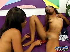Sexy ebony lesbians are