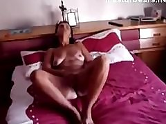Kathy 50 years Intense horny fingering and orgasm