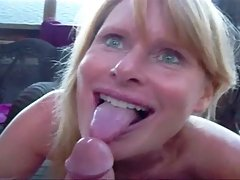 Laurie sucks cock and