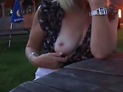 UK milf Flashing and