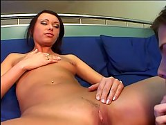 Super sluts Scene 05. Bitches swapping cum after threesome
