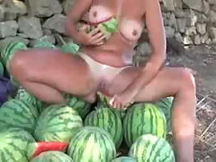 Outdoor Melon Masturbation Nudist