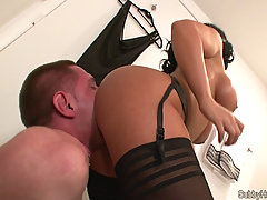 bell assworship. slave licking