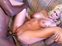 White Crack For The Big Black. Hot Blonde Takes BBC