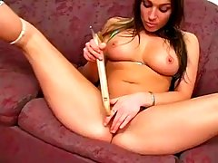 Jordan paige-Destrys her Pussy. insertions  with household items