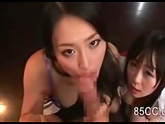 Hot slut gets a load of cum in her face. Hot bitch licking a guys as..
