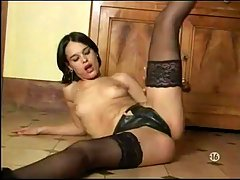 Alizee-with finger licking good asshole. licking