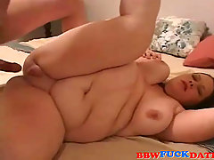 Home Filming Very Anal Fat Wife. Big ass Caucasian mature woman on h..