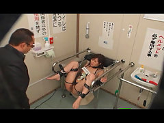 Mosaic Bound and fucked on Public Toilet 1. Young Girl is bound on a..