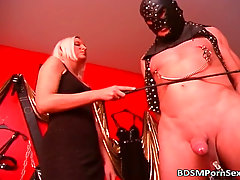 Gequalt. Two mistresses punish their slave.