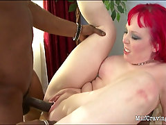 Naughty MILF gets her pierced pussy fucked. Wonderful MILF strips of..