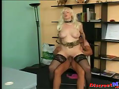 German Secretary MILF Fucking With The Boss. Nasty mature MILF givin..
